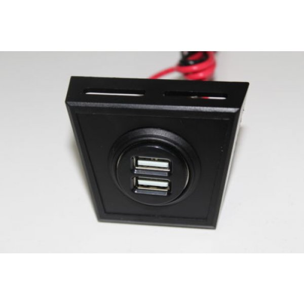 12v Usb Panel Mount Sockets Cigarette Dual Port Car Charger